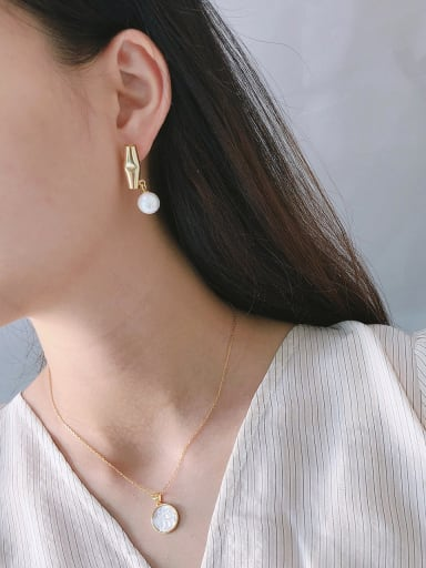 925 Sterling Silver With Gold Plated Personality Asymmetry Stud Earrings