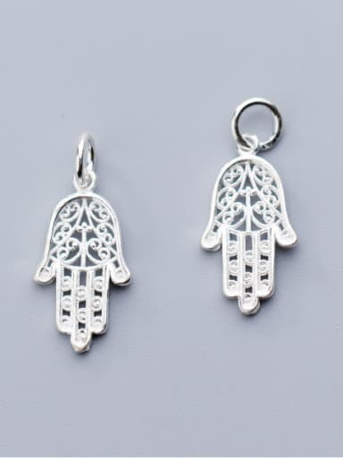 925 Sterling Silver With Antique Silver Plated Fashion Irregular Charms