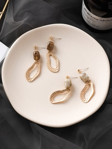 Alloy With Gold Plated Vintage Geometric Drop Earrings