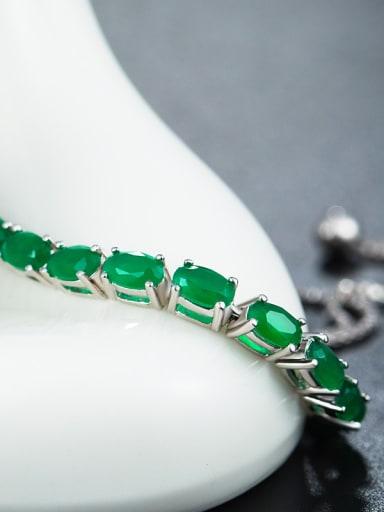 Oval Green Zircon Bracelet