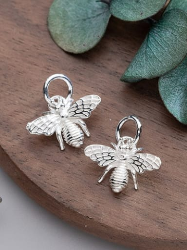 925 Sterling Silver With Silver Plated Personality Little bee