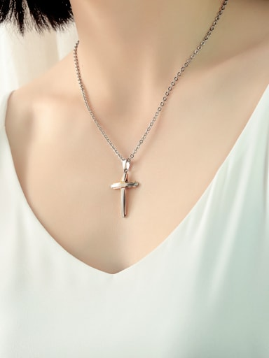 Stainless Steel With Multilayer color matching Hip Hop Cross Pendants