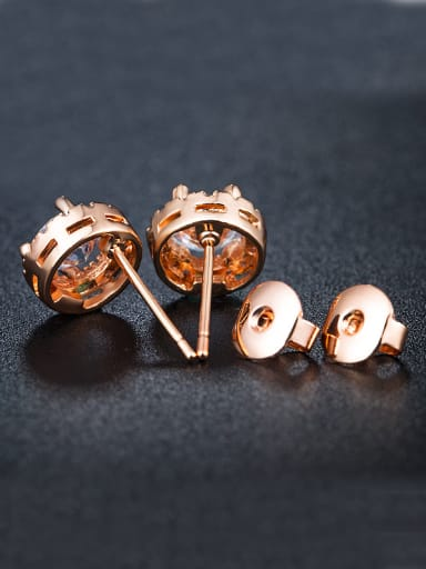 Rose Gold Plated Zircon Cluster earring