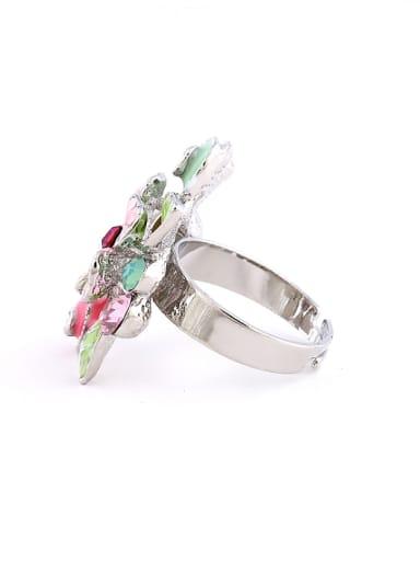 Fashion Colorful Flower Rhinestones Alloy Ring