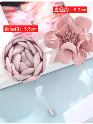 Alloy With Fabric art Romantic Flower Corsages/Straight pin brooch