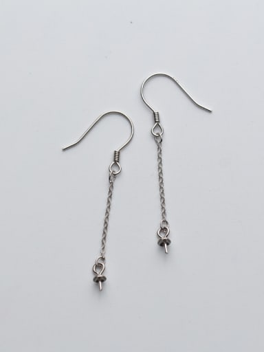 925 Sterling Silver With Silver Plated Cross chain Earrings