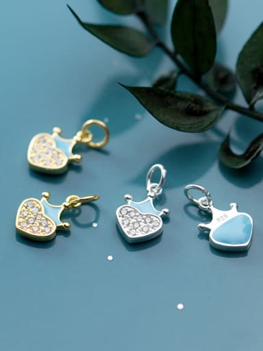 925 Sterling Silver With Cubic Zirconia  Simplistic Heart Charms