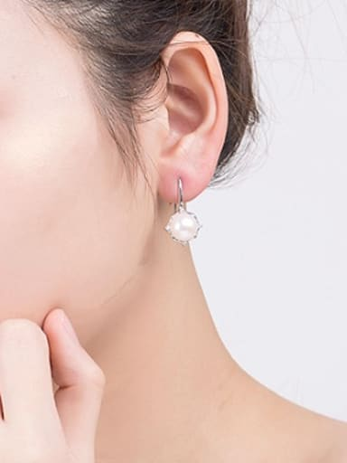 Fashion Freshwater Pearl hook earring