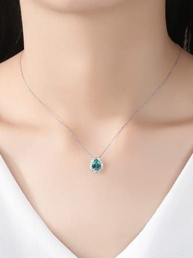 925 Sterling Silver With Cubic Zirconia Luxury Water Drop Necklaces