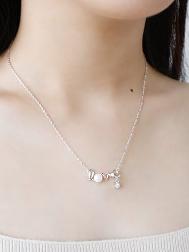 925 Sterling Silver With 18k Rose Gold Plated Romantic Monogram & Name Necklaces