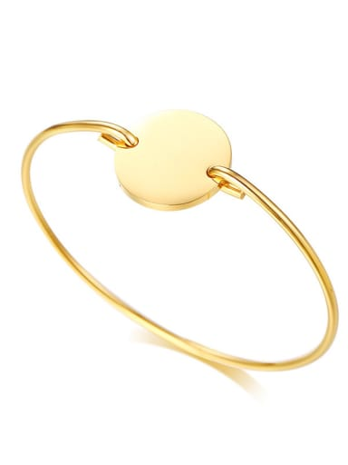 Stainless Steel With IP Gold Plated Fashion Round Bangles