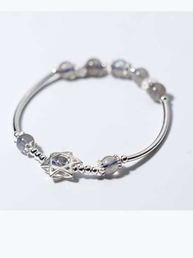 925 Sterling Silver With star bracelets & moonstone Bracelets
