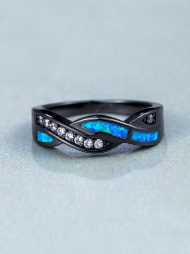 Black Gun Plated Ring