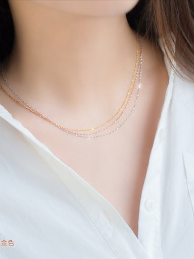 925 Sterling Silver With Gold Plated Simplistic Gypsophila chain