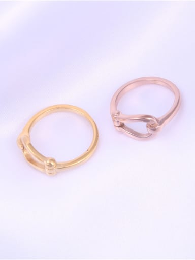 Titanium With Hollow  Personality Geometric Band Rings