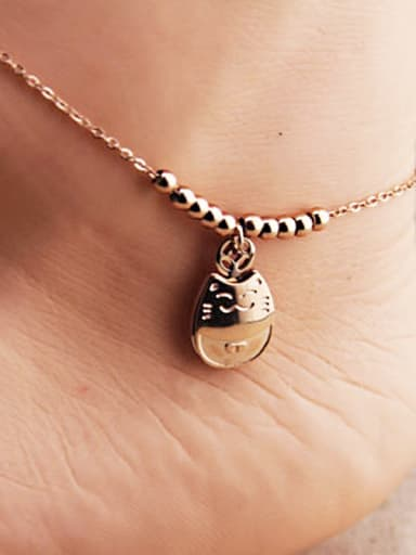 Lucky Cat Beads Women Anklet