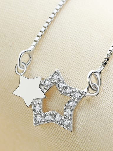 Double Star Simple Style Women Necklace