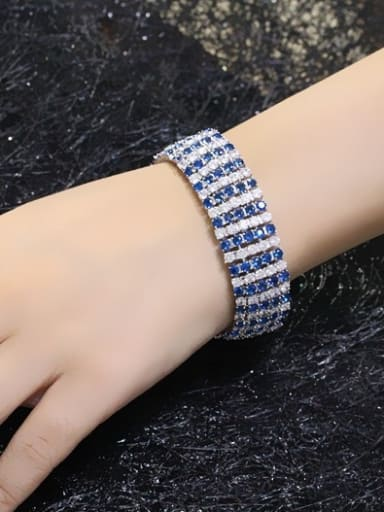 Color Zircons Five Lines Exaggerate Bracelet