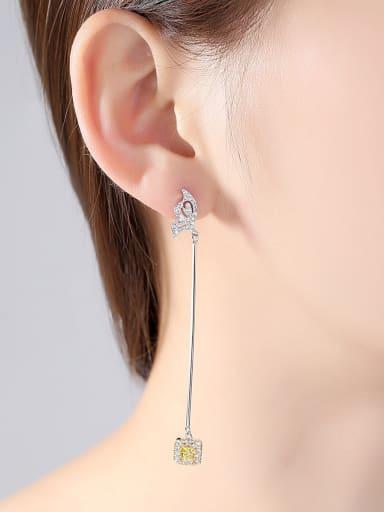 AAA zircon simple asymmetric wings Earrings