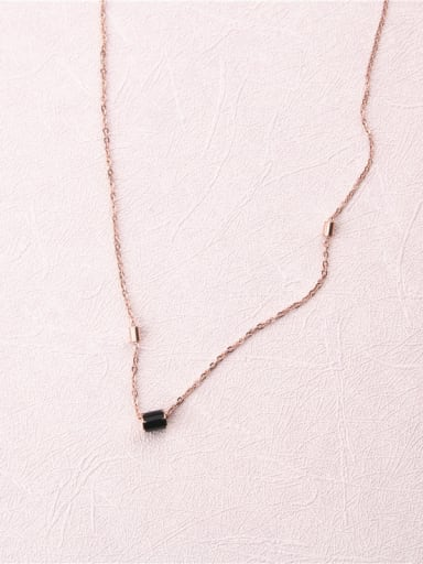 Rose Gold Plated Simple Style Necklace