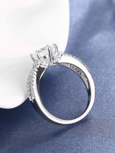 All-match Single Zircon 925 Silver Ring