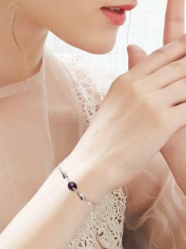 Simple Swarovski Crystals Tiny Leaves Bracelet
