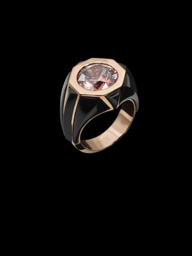 Copper With Rose Gold Plated Simplistic Geometric Band Rings