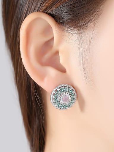 AAA zircon round colored Fashion Earrings