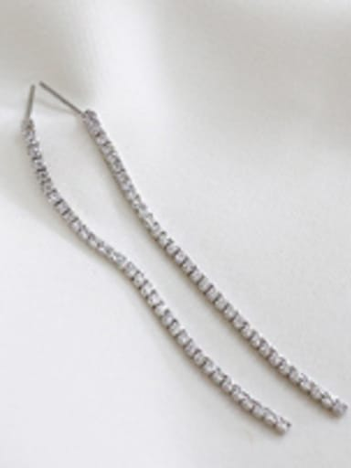 Sterling Silver with tiny Zircon Earrings