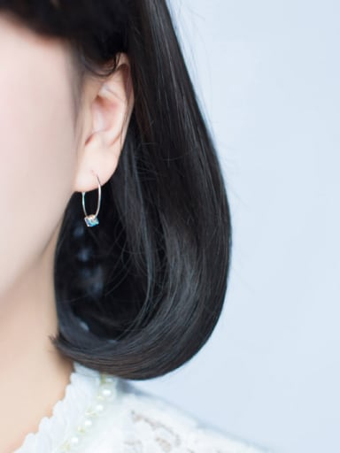 S925 silver sweet sugar round hoop earring  simplicity and individuality