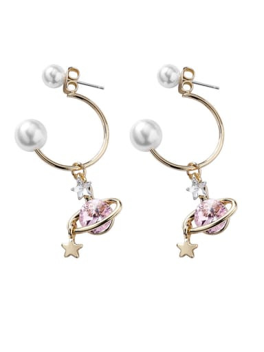 Alloy With Imitation Gold Plated Fashion Planet Drop Earrings