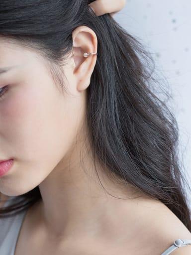 Trendy Geometric Shaped Artificial Pearl Clip On Earrings