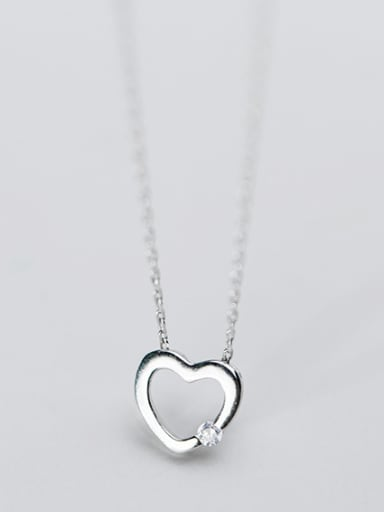 925 Sterling Silver With Gold Plated Simplistic Heart Locket Necklace