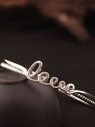 Retro Style Love Opening Bangle