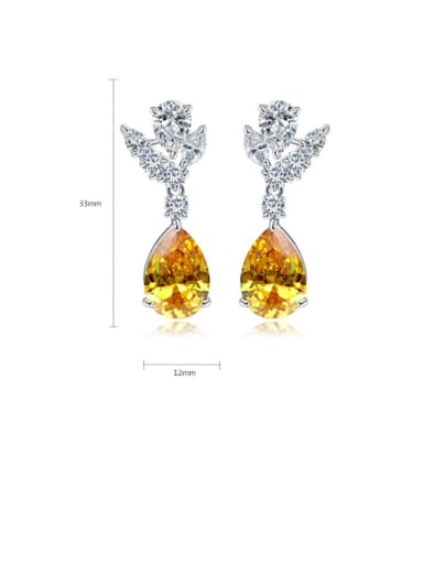 Copper With Platinum Plated Delicate Water Drop Drop Earrings