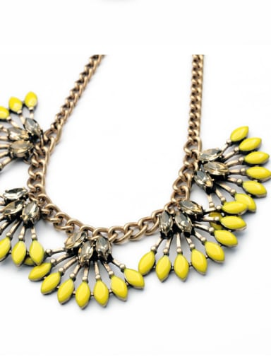 Fan-shaped Personality Alloy Necklace