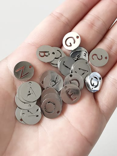 Stainless Steel With Silver Plated Personality Monogrammed Charms