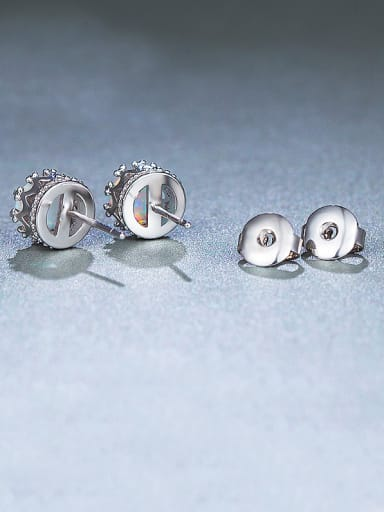 S925 Silver Round stud Earring