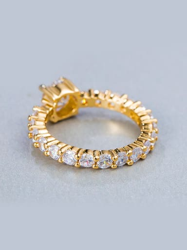 2018 2018 18K Gold Plated Zircon Ring