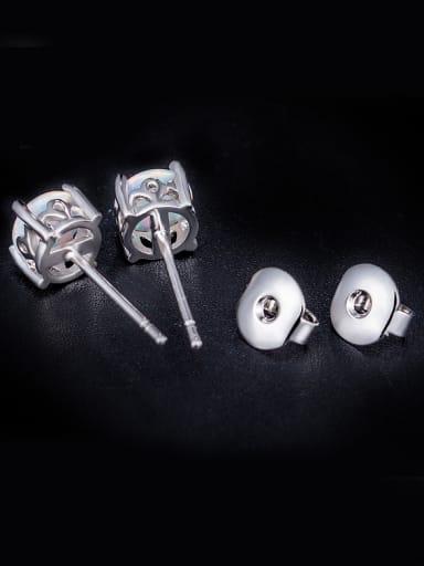 Crown Opal Stone stud Earring