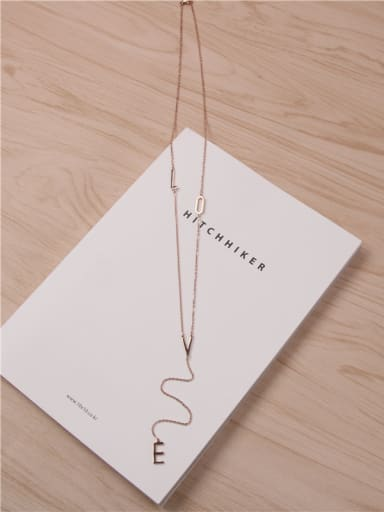 Love Letter Accessories Sweater Necklace
