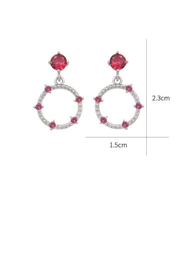 Copper With Cubic Zirconia  Cute Irregular Stud Earrings