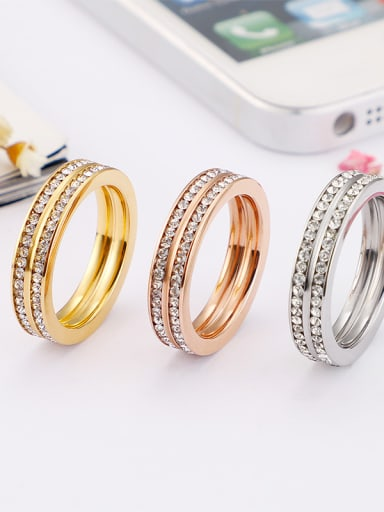 Stainless Steel With Cubic Zirconia Fashion Rings