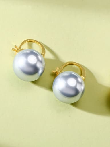Stainless Steel Fashion  Imitation Pearl Stud Earrings