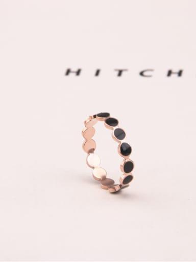 Black Glue Circle Fashion Ring