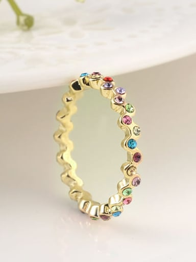 Multi-color 18K Gold Plated Austria Crystal Ring