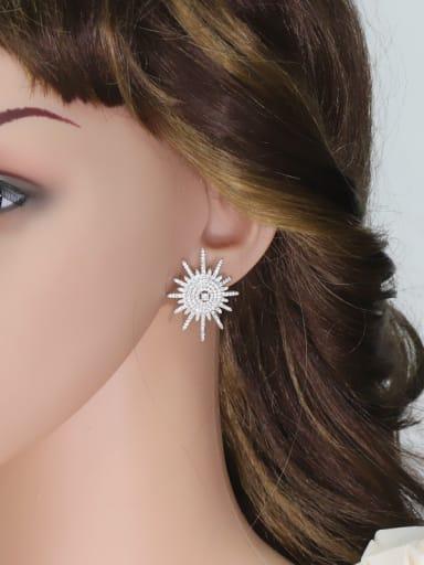 Sparking Micro Pave Zircons Luxury Stud Earrings