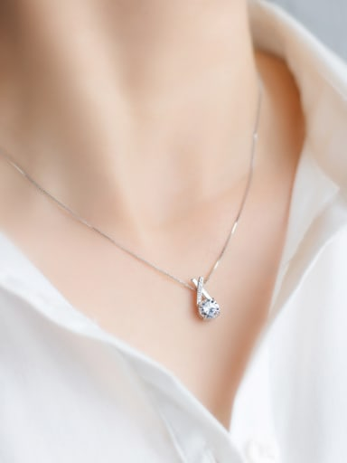 S925 Silver Sweet Cross zircon Necklace
