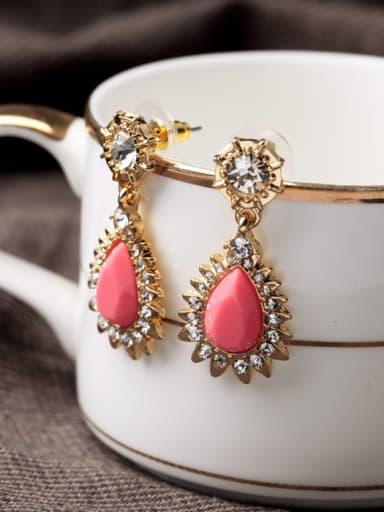 Sweet Water Drop Artificial Stones drop earring