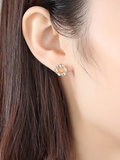 Love AAA  zircon  simple Stud Earrings